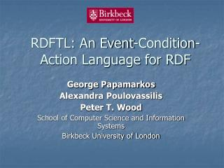 RDFTL: An Event-Condition-Action Language for RDF