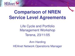 Comparison of NREN Service Level Agreements
