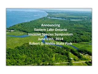 Announcing Eastern Lake Ontario Invasive Species Symposium June 11th, 2014