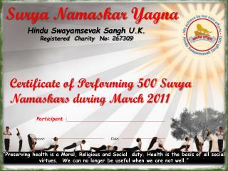 Surya  Namaskar Yagna