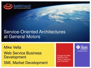 Mike Vella Web Service Business Development SMI, Market Development
