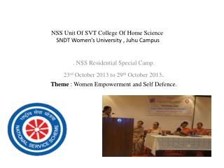 NSS Unit Of SVT College Of Home Science   SNDT Women's University ,  Juhu  Campus