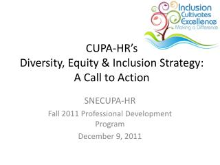 CUPA-HR's  Diversity, Equity & Inclusion Strategy: A Call to Action