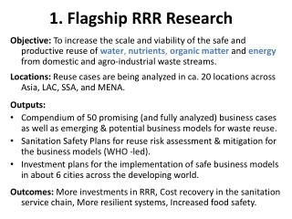 1.  Flagship RRR Research