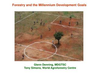 Forestry and the Millennium Development Goals