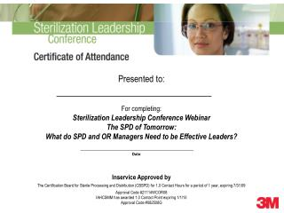certificate the spd of tomorrow