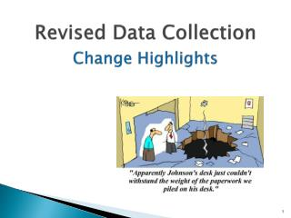 Revised Data Collection Change Highlights