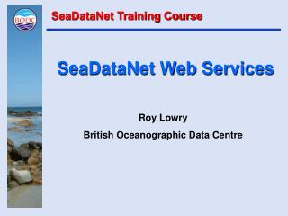 SeaDataNet Web Services