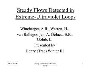 Steady Flows Detected in Extreme-Ultraviolet Loops