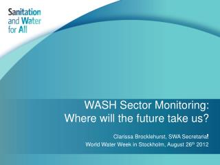 WASH Sector Monitoring: Where will the future take us? ,