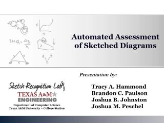 Automated Assessment of Sketched Diagrams