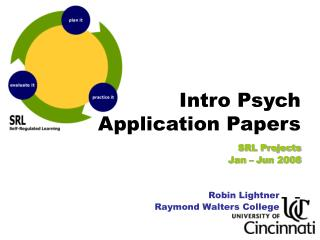 Intro Psych  Application Papers SRL Projects  Jan – Jun 2008