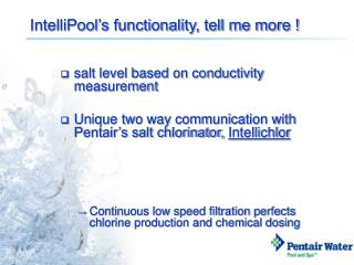 IntelliPool's functionality, tell me more !