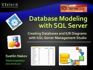 Database Modeling with SQL Server