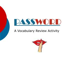 A Vocabulary Review Activity