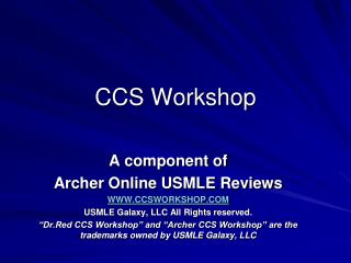 CCS Workshop