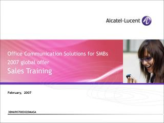Office Communication Solutions for SMBs  2007 global offer  Sales Training