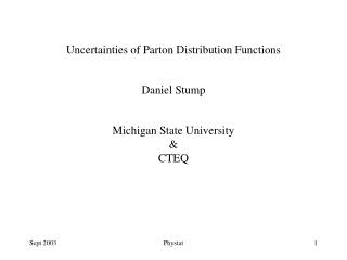 Uncertainties of Parton Distribution Functions