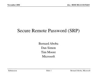 Secure Remote Password (SRP)