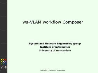 ws-VLAM workflow Composer