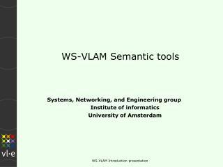 WS-VLAM Semantic tools