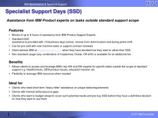 Specialist Support Days (SSD)
