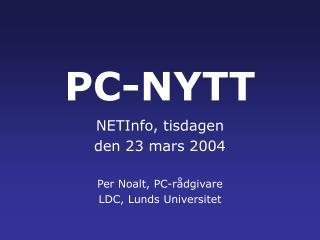 PC-NYTT