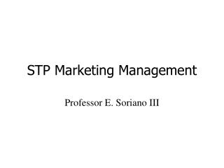 STP Marketing Management