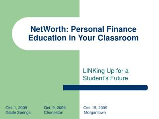 NetWorth: Personal Finance Education in Your Classroom