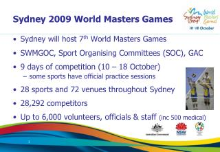 Sydney 2009 World Masters Games