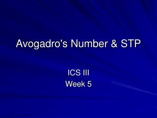 Avogadro's Number & STP