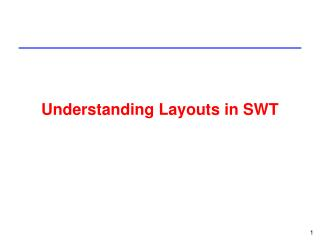 Understanding Layouts in SWT