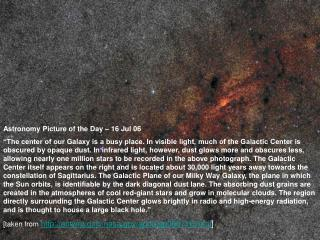 Astronomy Picture of the Day – 16 Jul 06