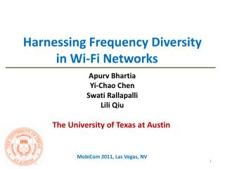 Harnessing Frequency Diversity in Wi-Fi Networks