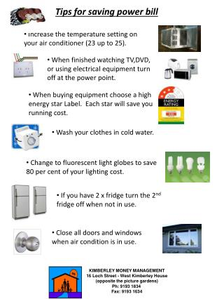 Tips for saving power bill