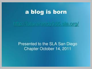 a blog is born