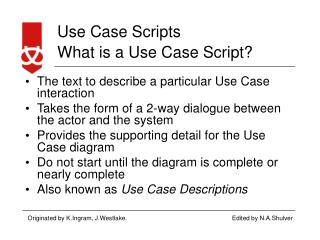 What is a Use Case Script?