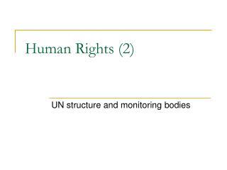 Human Rights (2)
