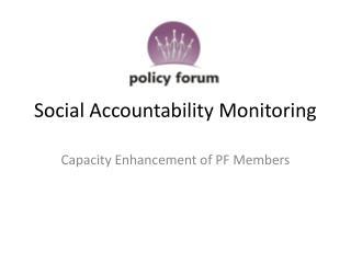 Social Accountability Monitoring