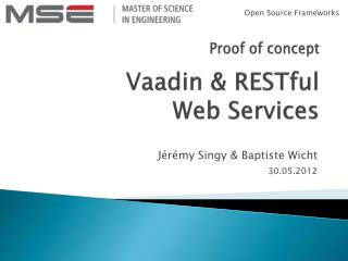 Vaadin  &  RESTful Web Services