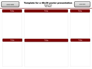Template  for a 48x36 poster presentation Virginia Tech  Your Name