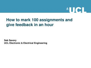 How to mark 100 assignments and give feedback in an hour