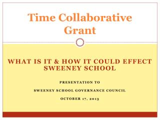 Time Collaborative  Grant