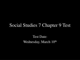 Social Studies 7 Chapter 9 Test