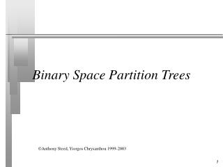Binary Space Partition Trees