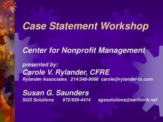 Case Statement Workshop
