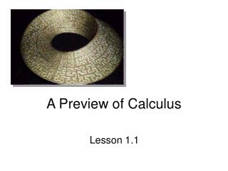 A Preview of Calculus