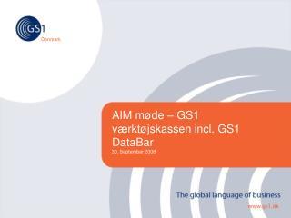 AIM møde – GS1 værktøjskassen incl. GS1 DataBar