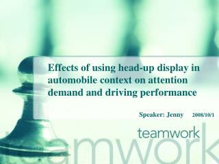 Effects of using head-up display in automobile context on attention demand and driving performance