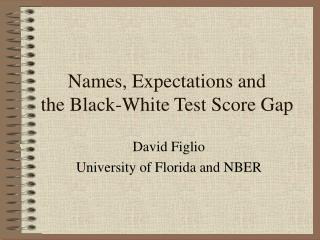 Names, Expectations and  the Black-White Test Score Gap